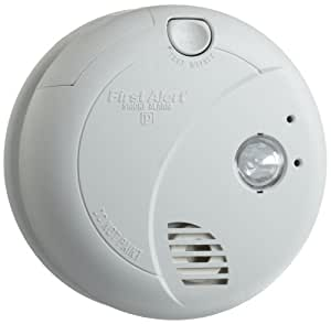 BRK Brands 7020B Hardwire Photoelectric Sensor Smoke Alarm with Battery Backup and Escape Light