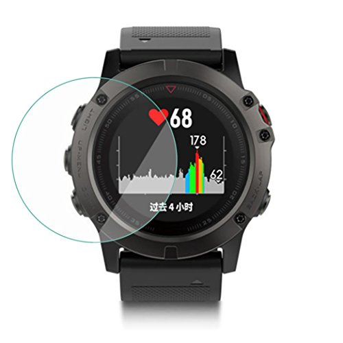 (GBSELL HD Tempered Glass LCD Screen Protector Film for Garmin Fenix 5)