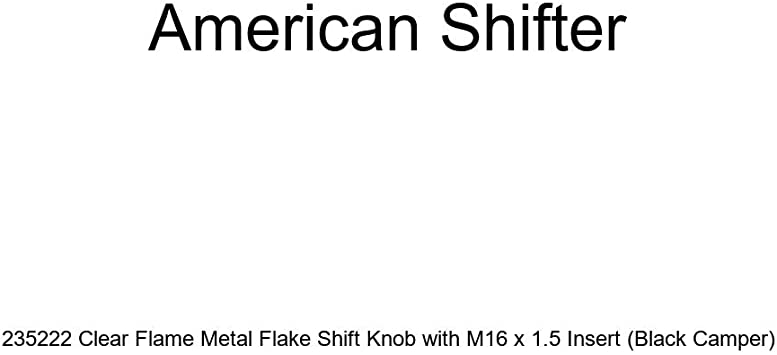 Black Camper American Shifter 235222 Clear Flame Metal Flake Shift Knob with M16 x 1.5 Insert