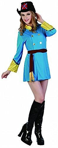 Rimi Hanger Womens Three Musketeers Fancy Dress Costume Ladies French Medieval Fancy Dress Outfits One Size Fits US 4-10 ()