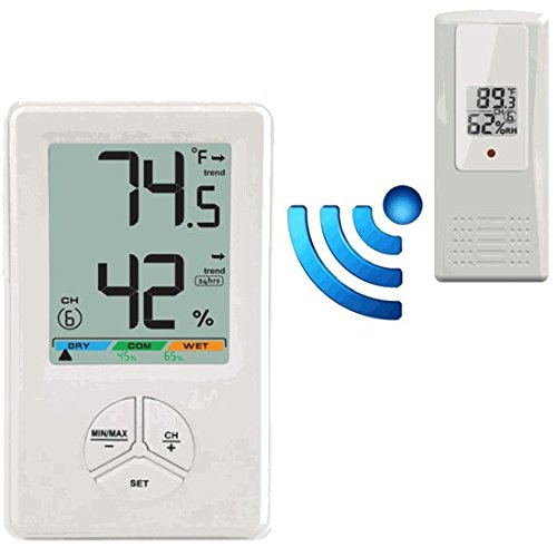 Wireless Humidity Sensor (Ambient Weather WS-0416 8-Channel Wireless Thermo-Hygrometer)