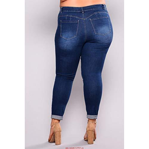 Haute Long Style 2 Style Jeans Color 7XL en mi Skinny MALLTY Jean Size 3 Taille 0EqRU