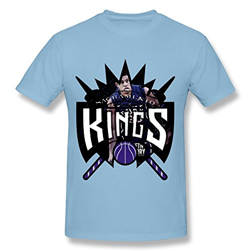 Funny Seth Curry Sacramento Kings Team Men's Tee SkyBlue Size L