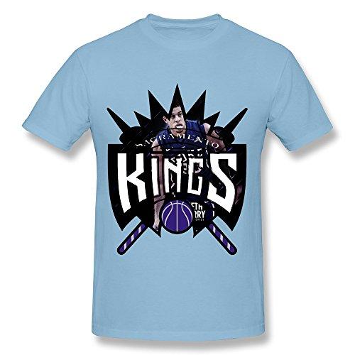 Funny Seth Curry Sacramento Kings Team Men's Tee SkyBlue Size L