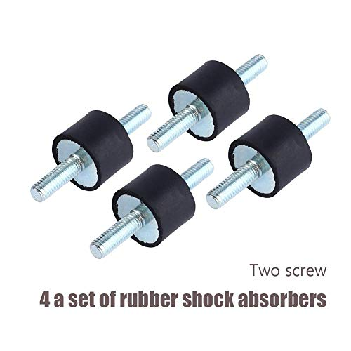Rubber Vibration Isolator Mounts M6 2015, Air Compressor Pump Anti Vibration Rubber Mount Shock Damper ()