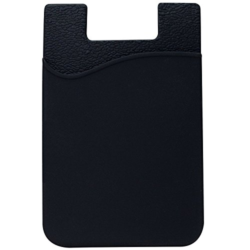 AgentWhiteUSA Cell Phone Wallet, Stick on Wallet For Credit Card, Business Card and Id, Works with Almost Every Phone, iPhone, Android and Most Smartphones, Grey/Black/White
