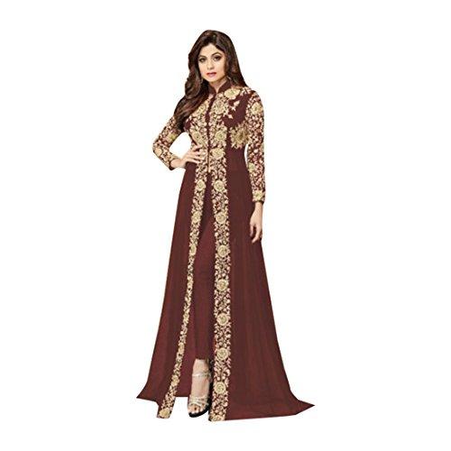 kameez anarkali ragazze colorato corpetti personalizzato matrimonio vestiti pakistano kamiz Bollywood misurare per musulmano salwar orbace Brown uomo indiano 651 donna stile vestito donne xwFf0nXTUq