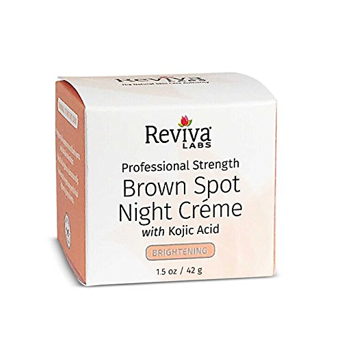 Reviva Labs Brown Spot Night Cream, with Kojic Acid, 1.5 ounces (42 grams)