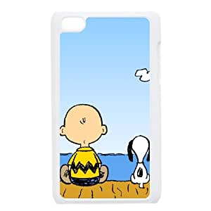 iPod Touch 4 Case White Charlie Brown and Snoopy Wovk