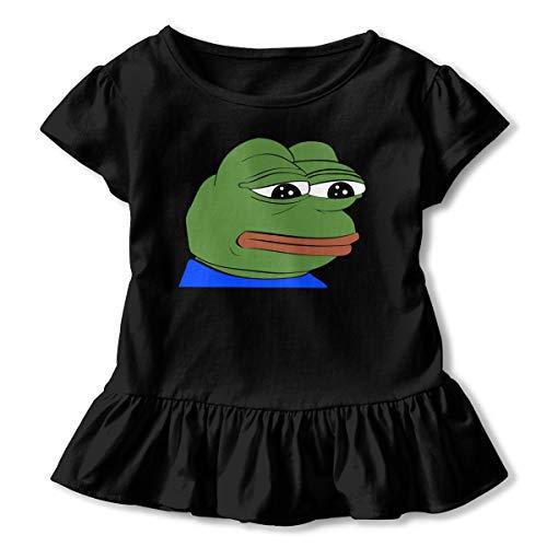 Price comparison product image Pepe The Frog Logo Baby Girls Dress Short Sleeve Bodysuit Skirt Black