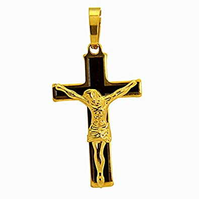 Krezy Case Mens Cross 316L Stainless Steel Pendant Neckles