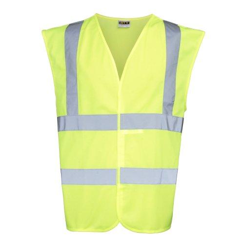 - RTY High Visibility Unisex High Vis Sleeveless Waistcoat / Vest (XL) (Fluorescent Yellow)