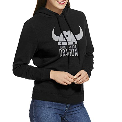 WYF Womens How to Train Your Dragon Particular Hoodie Sweatshirt Black M