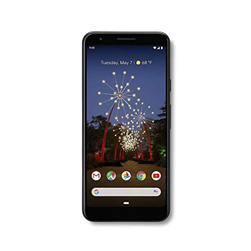 Google Pixel 3a G202G with 64GB Memory Cell Phone (GSM Unlocked) – Just Black (Renewed)