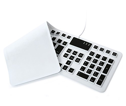 Flexible Silicone Keyboard USB Wired Standard Waterproof Rollup Foldable Keyboard for PC Notebook Laptop