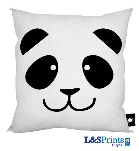 Amazon.com: Cartoon Panda Cara Diseño Cojín 18