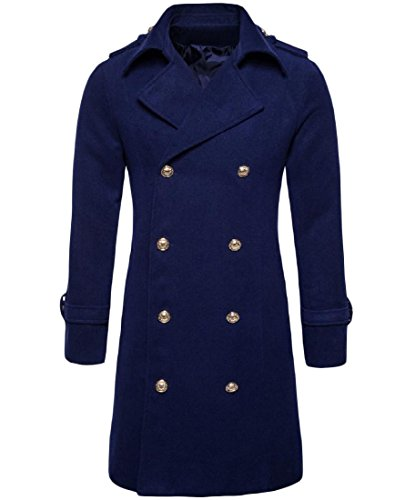Double Breasted Long Sleeve Coat - 6