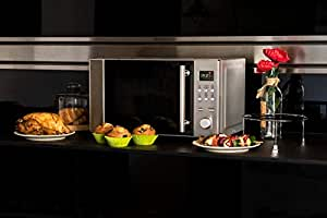 Cecotec Microondas con Grill Steel Grill. Capacidad de 20l, 700 W de Potencia, Grill de 900W, 9 Niveles Funcionamiento, Temporizador 30 min, Modo ...
