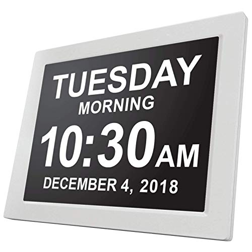 [Newest Version] American Lifetime Day Clock - Extra Large Impaired Vision Digital Clock with Battery Backup & 5 Alarm Options ()