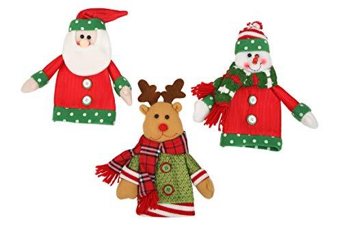 Felitsa Christmas Decorations - Christmas Bottle Covers (3 pcs) - Best Xmas Decor for Home
