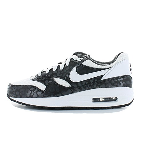 Nike Air Max 1 Print (Gs) 705479 101 BLACK WHITE LEOPARD