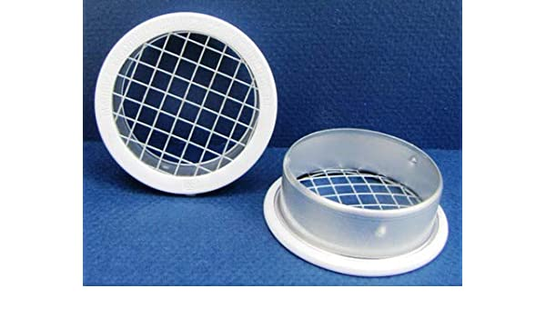 Package of 4 3 Round Open Screen Vent w 1//8 mesh White