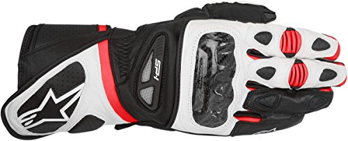 Alpinestars SP-1 Men's Street Motorcycle Gloves - Black/White/Red / Small
