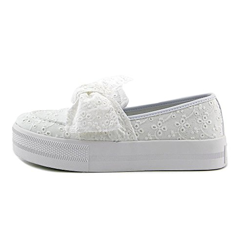 G Da Indovinare Tessuto Chippy Donna Low Top Slip On Sneakers Moda Occhielli Bianchi Primavera