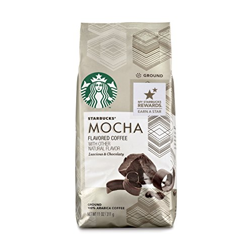 Starbucks Mocha Flavored Justification Coffee, 11-Ounce Bag (Pack of 6)