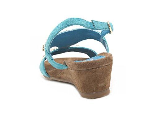 azul para turquesa vestir de turquesa MELLUSO de mujer ante Sandalias Zq48n4