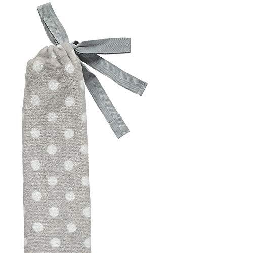 80 cm Flauschw/ärmflasche YuYu Fleece Polka Dot grau