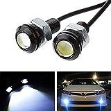 iJDMTOY High Power Bolt-On LED Eagle Eyes For Parking Light, Fog Lights, Xenon White