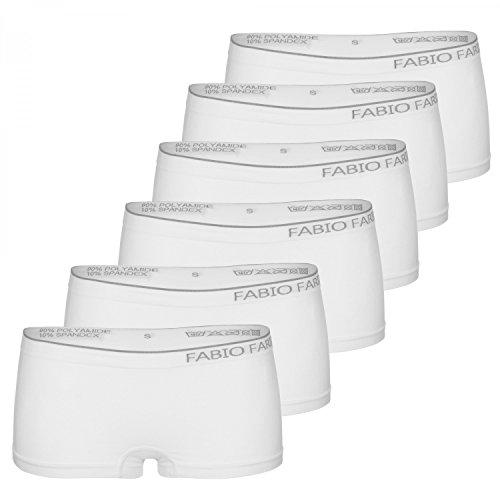 O Bianco Confezione Farini Cucitura Senza Da Nero 6 Mutande Fabio Donna Boxer 4O8zwz