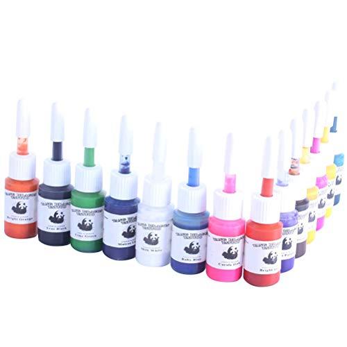 SUPVOX 14pcs Tattoo Pigment Multi Colors Makeup Tattoos Ink Pigment for Body Professional Beauty Art Supplies