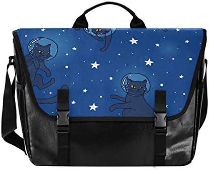 メッセンジャーバッグ メンズ 宇宙 猫柄 星柄 斜めがけ 肩掛け カバン 大きめ キャンバス アウトドア 大容量 軽い おしゃれ