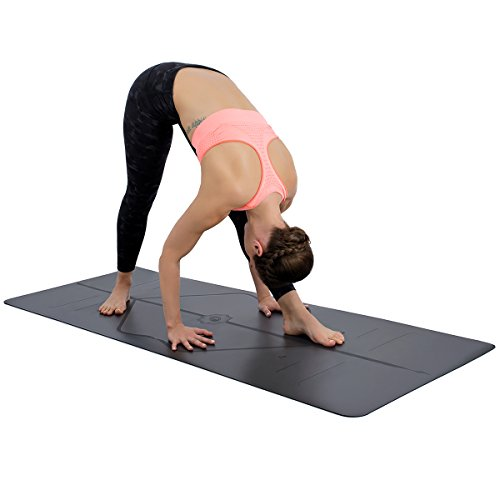 LIFORME Original Yoga Mat – Patented Alignment System, Warrior-Like Grip, Non-Slip, Eco-Friendly and Biodegradable…