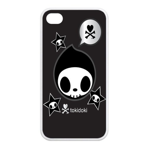 Fayruz- Tokidoki Protective Hard TPU Rubber Cover Case for iPhone 4 / 4S Phone Cases A-i4K138