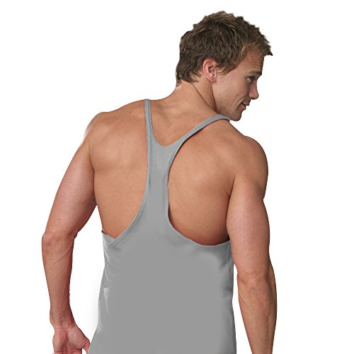 Otomix Men's Stringer Bodybuilding Muscle Tank Top (Large, Heather Grey)