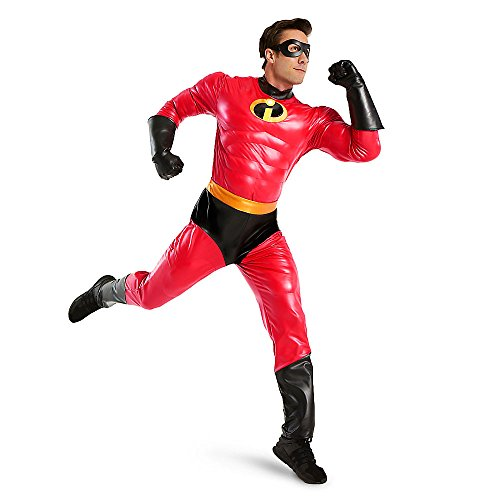 Disney Pixar Mr. Incredible Costume for Adults - Incredibles 2 Red XL/2XL