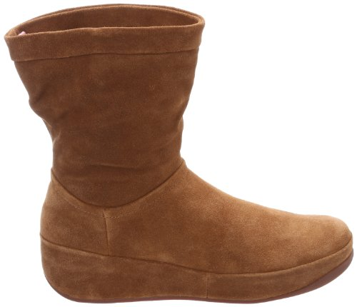 Fitflop Crush Boot - Botines plataforma, color: marrón marrón - Brown Sugar