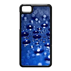 Black Berry Z10 Case,Drops On Blue Background High Definition Wonderful Design Cover With Hign Quality Hard Plastic Protection Case