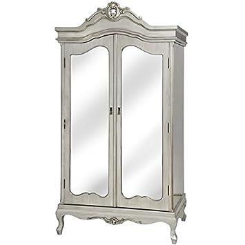 Antik Silber Im Franzosischen Stil Verspiegelt Glas Kleiderschrank