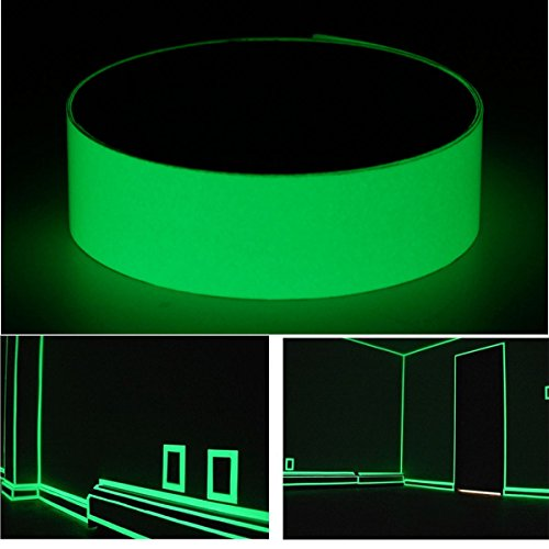 Wall Art - 50mm X 1m Photoluminescent Tape Glow In The Dark Egress Safety Mark Bright Green - Luminescent Tape Glow Dark Neon Duct Reflective Flourescent Stickers Markers - In The - 1PCs - Canal Tapestry