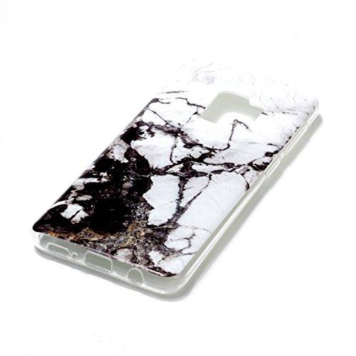 léger étui black White dans TPU ultra mince Samsung Mate9 pour téléphone portable Galaxy rigide S9 étui coque Slip le coque matériel inShang marble Anti pattern de et housse marble fait and qICpOwx