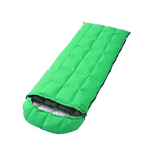 WLIXZ Adults Camping Backpack Hiking Envelope Sleeping Bag, Extreme Temp Rating 23F/-5℃,Green ()