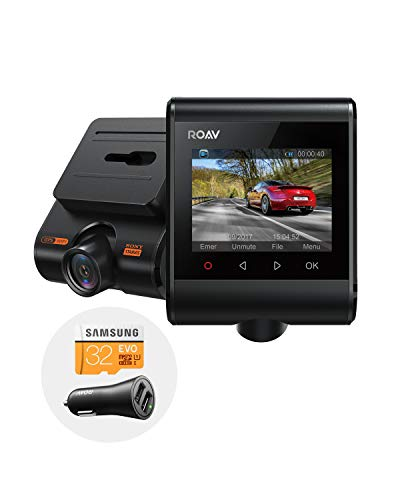 Roav by Anker DashCam S1 with Full HD 1080p Resolution, Nighthawk Vision, Sony Starvis Sensor, Built-in GPS, Wi-Fi for Easy Sharing, 4-Lane Wide-Angle Lens, G-Sensor, WDR, and 32GB SD Card