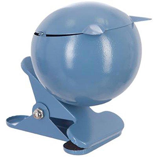 Paris Prix - Cendrier Métal Boule avec Pince Fer 14cm Bleu