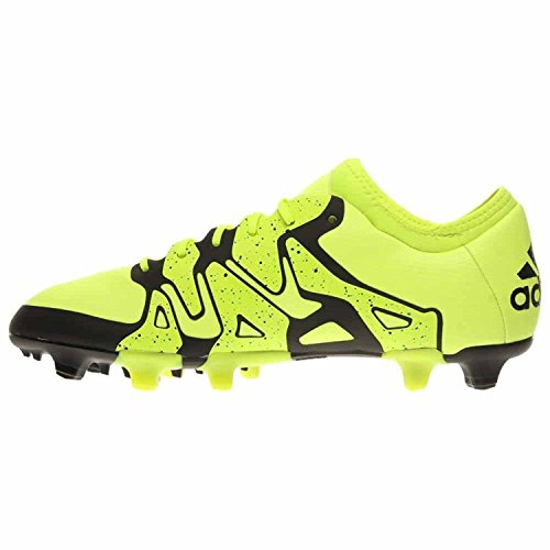 adidas Mens X 15.1 FG/AG Firm Ground/Artificial Grass Soccer Cleats 8 US, Solar Yellow/Frzn Yellow/Black