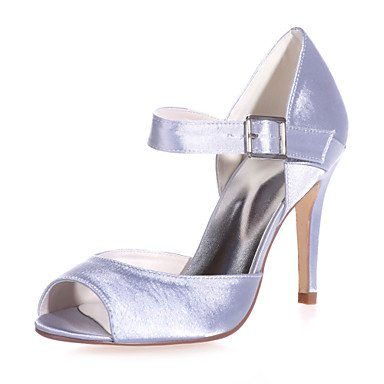 Sandalias UK4 CN36 Talón US6 Stiletto Zapatos Zapatos Satin De amp;Amp; Mujer Peep De Colores Toe Parte Disponibles EU36 Más Boda Noche Boda w1wR0xqI