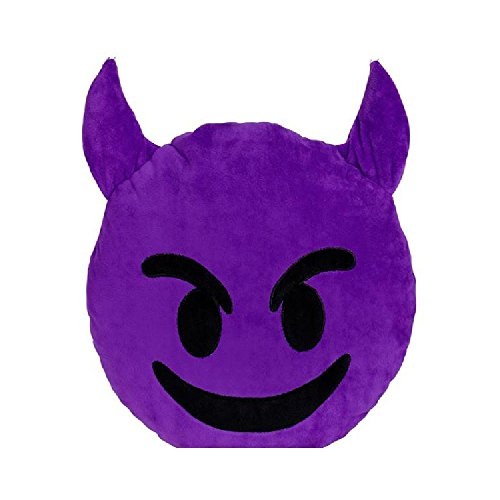 12'' Emoticon Devil Pillow by Bargain World